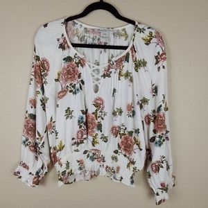 American Rag Cie Floral Top Size L